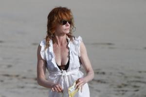 Marg Helgenberger on the beach