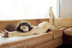 Cindy Crawford nude on bed