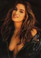 Cindy Crawford topless black jacket