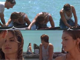 Cindy Crawford in transparent top