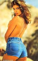 Cindy Crawford topless in jeans