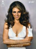 Elizabeth Hurley in white dress