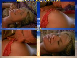 Barbara Alyn Woods showing tit