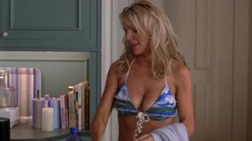 Barbara Alyn Woods in bikini