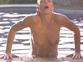 Jaime Pressly topless in the pool