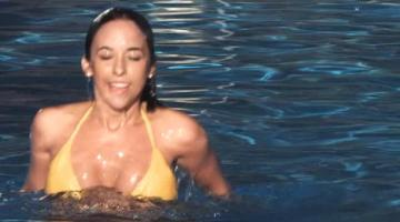 Lacey Chabert in bikini in the pool