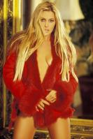 Nicole Eggert in red fur