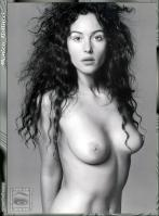 Monica Bellucci naked monochrome