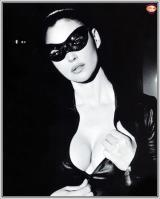 Monica Bellucci in leather outfit