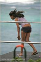 Mila Kunis on the wind