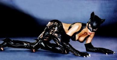 Halle Berry in sexy cat woman outfit