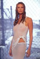 Elle Macpherson in white hot dress
