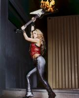 Shakira destroying guitar